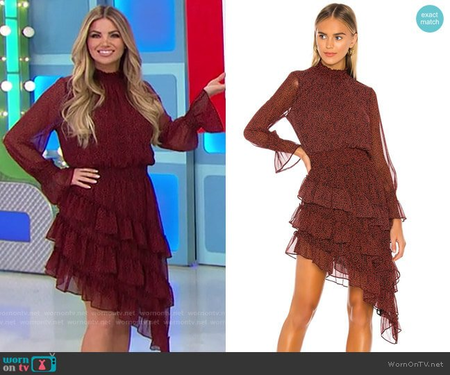 MISA Los Angeles Savanna Dress worn by Amber Lancaster  on The Price is Right