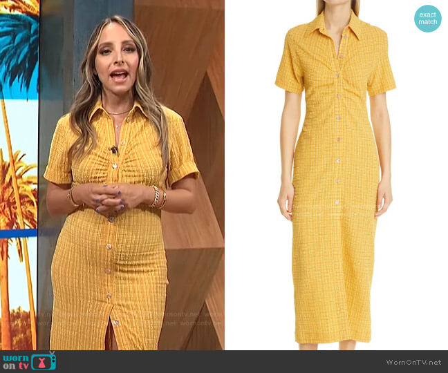 Sabri Check Short Sleeve Shirtdress by Nanushka worn by Lilliana Vazquez  on E! News