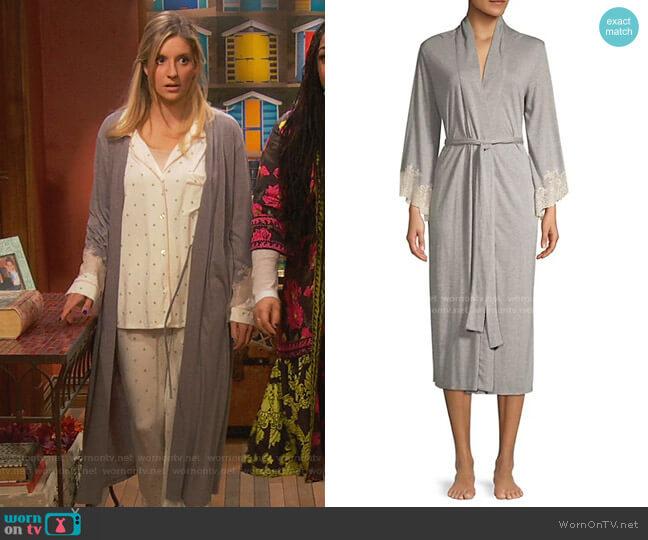 Luxe Shangri-La Robe by Natori worn by Chelsea Grayson (Anneliese van der Pol) on Ravens Home