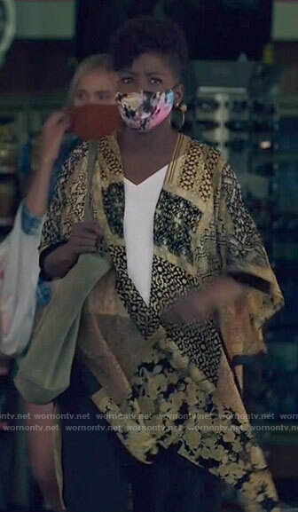 Nova's yellow patchwork kimono on Queen Sugar