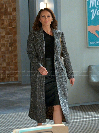 Quinn's houndstooth coat on Younger