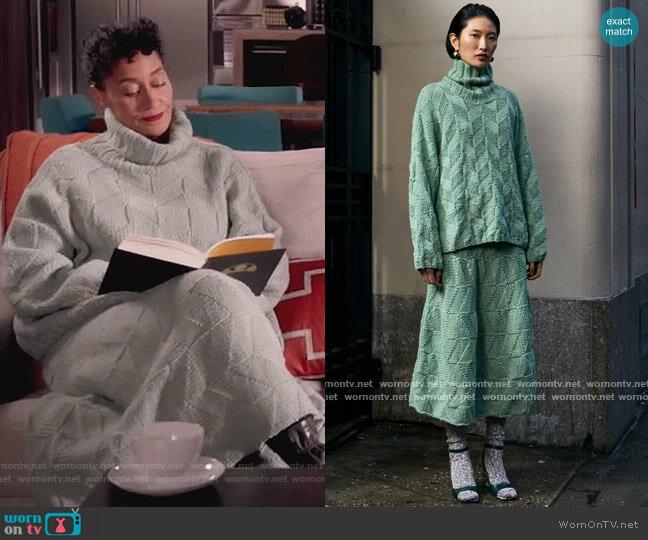 Misura Sweater and Piano Skirt by Rachel Comey worn by Rainbow Johnson (Tracee Ellis Ross) on Blackish