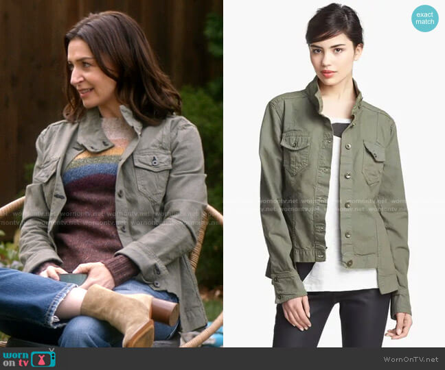 Chamberlain Jacket by Rag & Bone worn by Amelia Shepherd (Caterina Scorsone) on Greys Anatomy