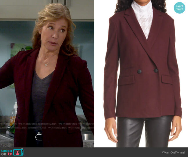 Rag & Bone Leon Blazer worn by Vanessa Baxter (Nancy Travis) on Last Man Standing