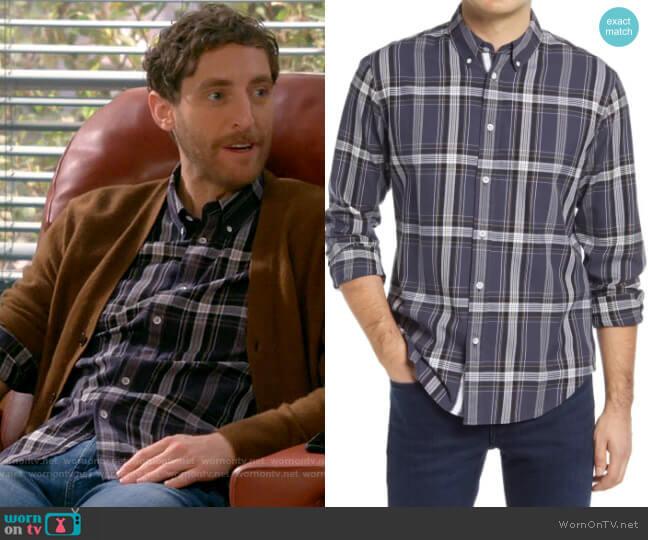 Rag & Bone Tomlin Shirt worn by Drew Dunbar (Thomas Middleditch) on B Positive