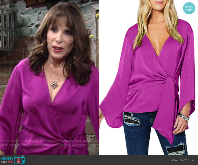 Ramy Brook Cassandra Blouse worn by Esther Valentine (Kate Linder) on The Young & the Restless