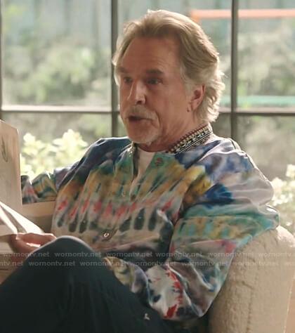 Rick's tie dye bomber jacket on Kenan