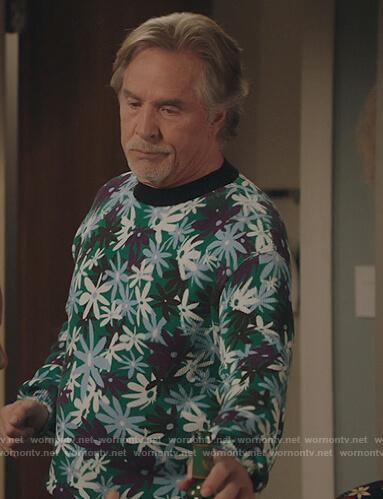 Rick's floral print sweatshirt on Kenan