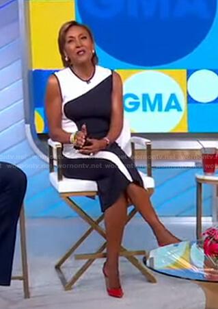 Robin's wave colorblock dress on Good Morning America