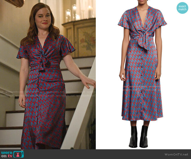 Catny Print Midi Dress by Sandro worn by Zoey Clarke (Jane Levy) on Zoeys Extraordinary Playlist