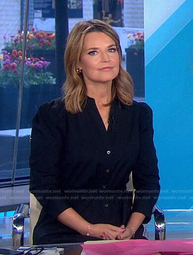 Savannah's black tie waist shirtdress on Today