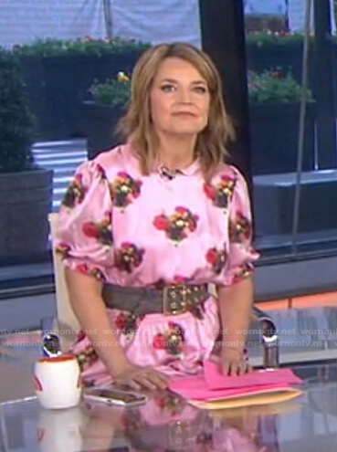 Savannah's pink floral dress on Today