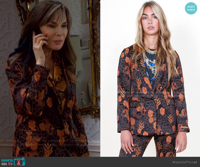 Classic Blazer by Scotch & Soda worn by Kate Roberts (Lauren Koslow) on Days of our Lives