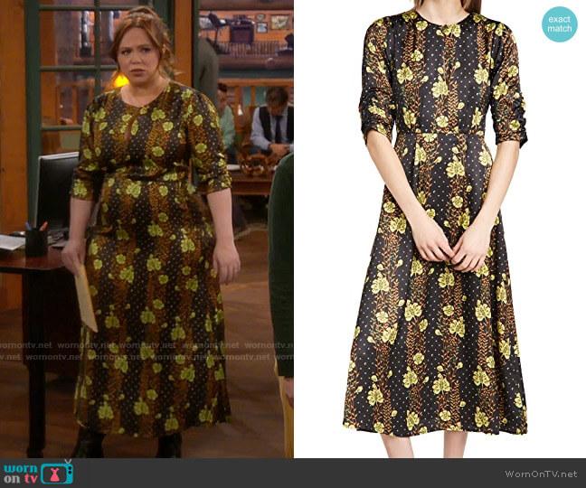 Scotch & Soda Midi Floral Dress worn by Kristin Baxter (Amanda Fuller) on Last Man Standing