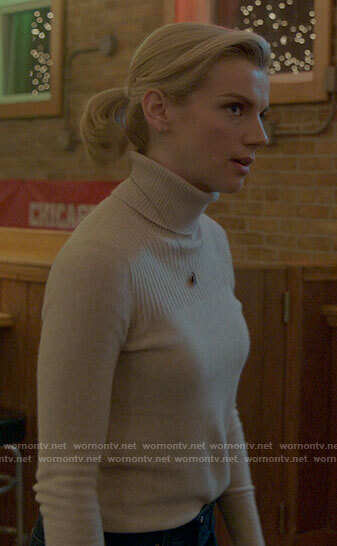 Sylvie's beige turtleneck on Chicago Fire