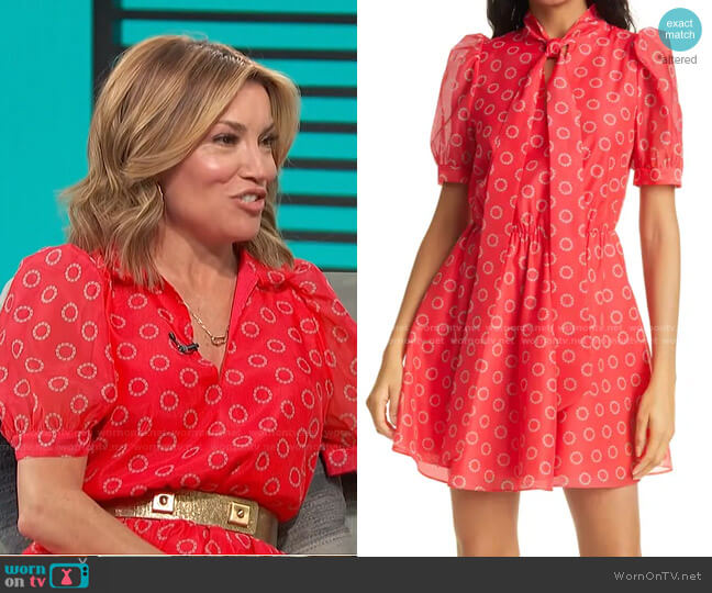 Dottyy Puff Sleeve Minidress by Ted Baker worn by Kit Hoover  on Access Hollywood