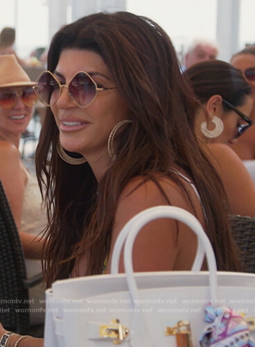 Teresa's diamond sunglasses on The Real Housewives of New Jersey