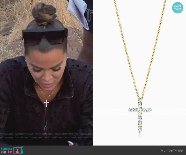 Cross Pendant by Tiffany & Co worn by Khloe Kardashian  on Keeping Up with the Kardashians