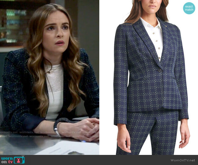 Tommy Hilfiger Printed One-Button Blazer worn by Caitlin Snow (Danielle Panabaker) on The Flash