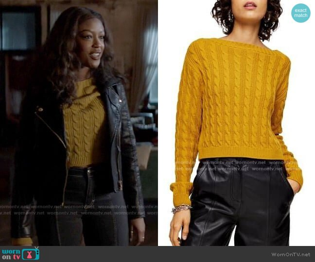 Topshop Cable Knit Crop Sweater worn by Ryan Wilder (Javicia Leslie) on Batwoman