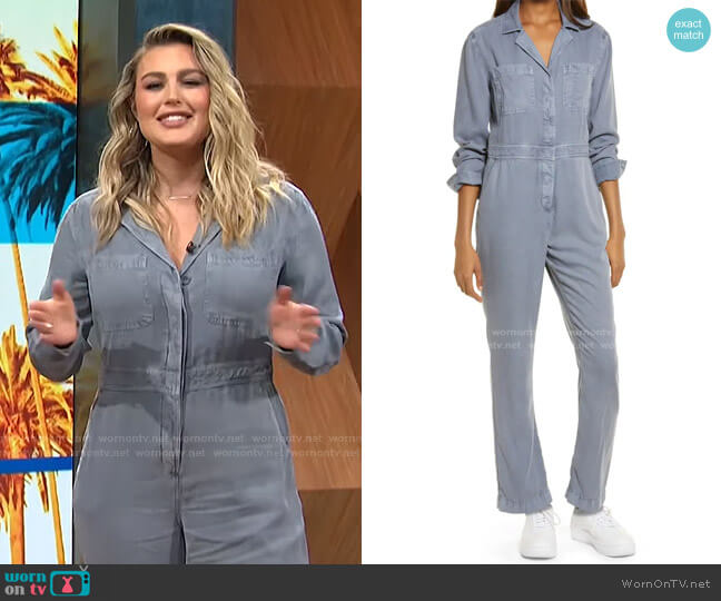 Utility Boilersuit by Treasure & Bond worn by Carissa Loethen Culiner  on E! News
