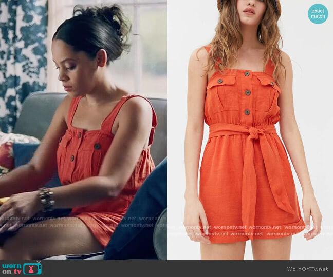 Urban Outfitters Malibu Romper worn by Darla (Bianca Lawson) on Queen Sugar