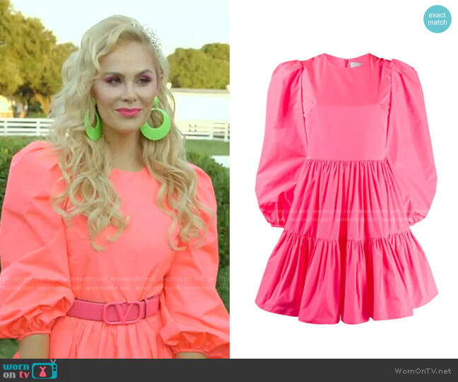 Puff Sleeves Ruffled Mini Dress by Valentino worn by Kameron Westcott  on The Real Housewives of Dallas