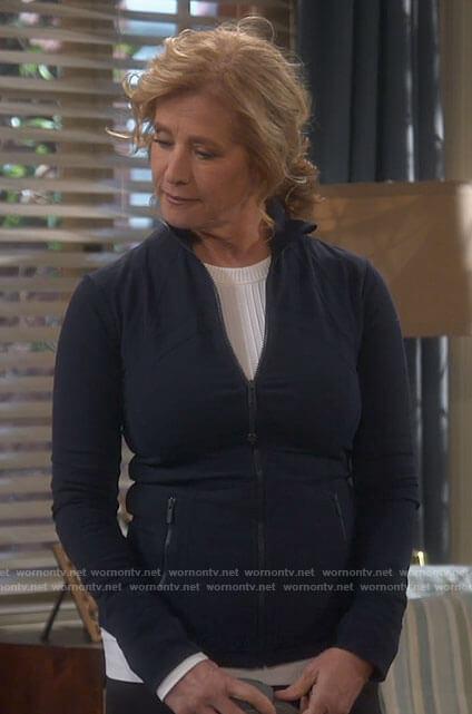 Vanessa's navy jacket on Last Man Standing