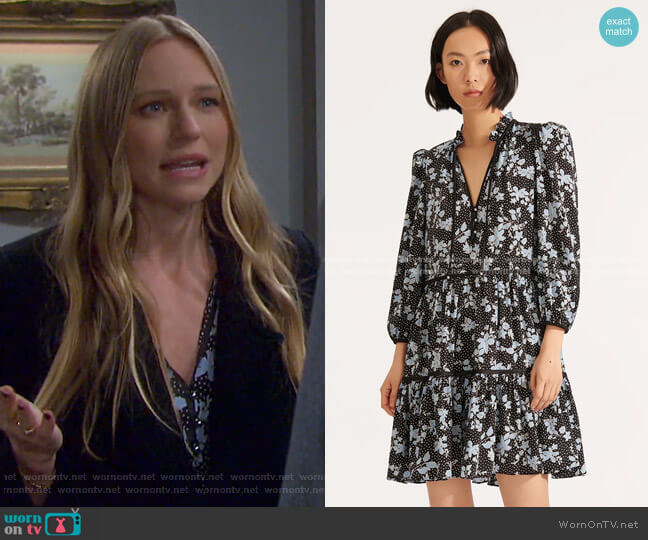 Hawken Floral Dress by Veronica Beard worn by Abigail Deveraux (Marci Miller) on Days of our Lives