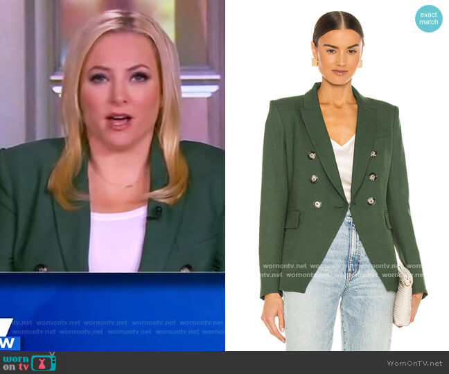 Miller Double Breasted Blazer by Veronica Beard worn by Meghan McCain  on The View