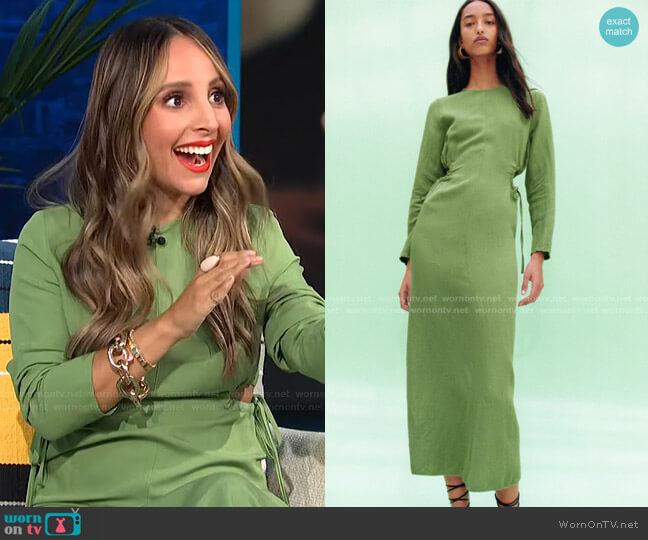 Cut Out Linen Blend Dress by Zara worn by Lilliana Vazquez  on E! News