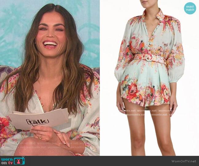 Mae Billow Blouse by Zimmermann worn by Jenna Dewan on The Talk