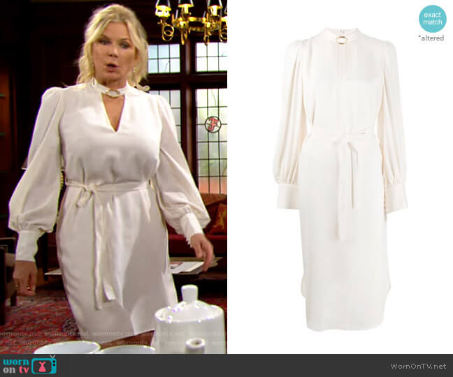 Zimmermann Buckle Collar Dress worn by Brooke Logan (Katherine Kelly Lang) on The Bold & the Beautiful