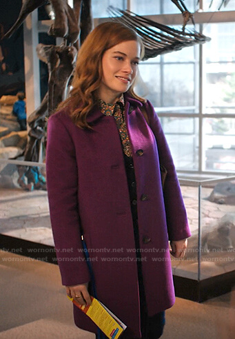 Zoey's purple coat on Zoeys Extraordinary Playlist