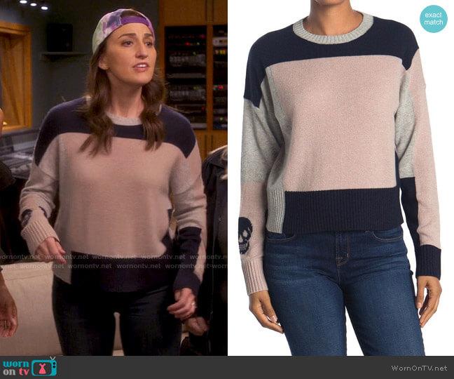 Skull Cashmere Lisa Sweater worn by Dawn Solano (Sara Bareilles) on Girls5eva