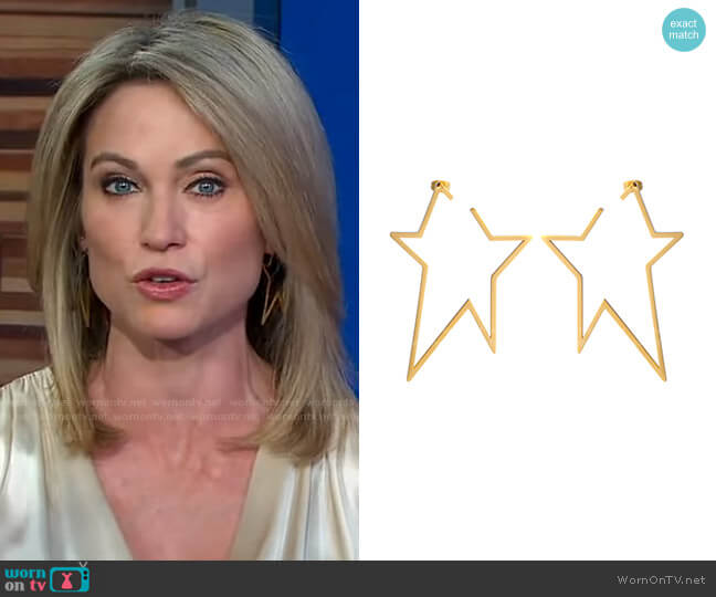 A Star is Born Earrings by Accessory Concierge worn by Amy Robach  on Good Morning America