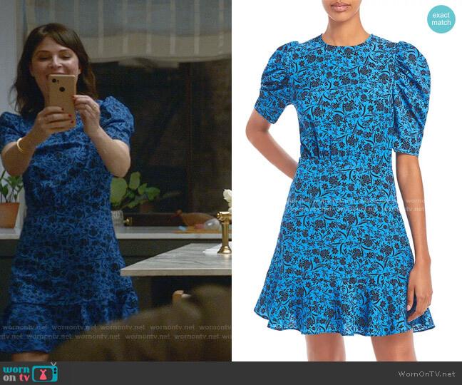 Printed Puff Sleeve Dress by Aqua worn by Taylor Rentzel (MacKenzie Meehan) on Bull