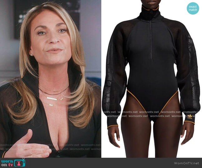 Mesh Sleeve Bodysuit by Adidas X Ivy Park worn by Heather Thomson on The Real Housewives of New York