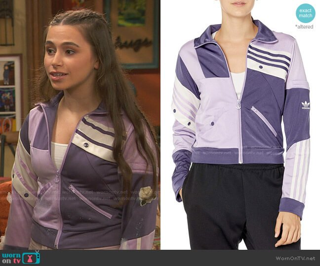 Danielle Cathari Track Top by Adidas worn by Tess O'Malley (Sky Katz) on Ravens Home