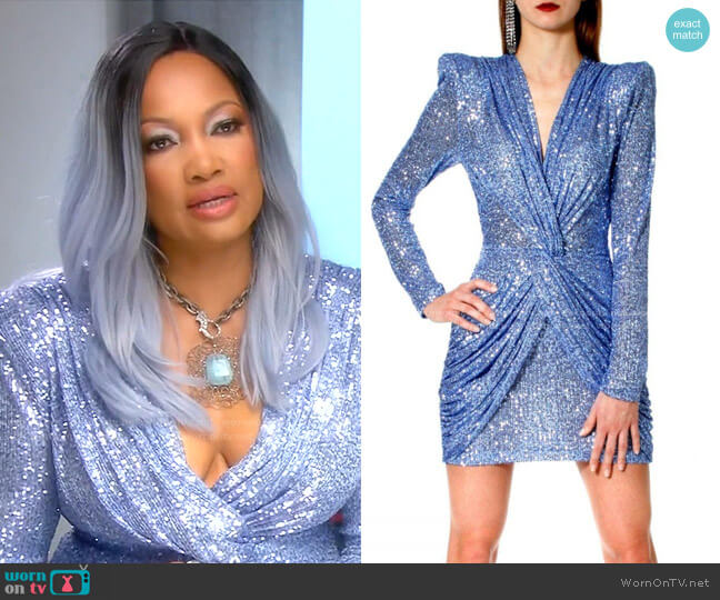 Dress Jennifer Illusion Blue by Aggi worn by Garcelle Beauvais  on The Real Housewives of Beverly Hills