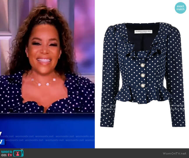 Polka Dot Print Blouse by Alessandra Rich worn by Sunny Hostin  on The View