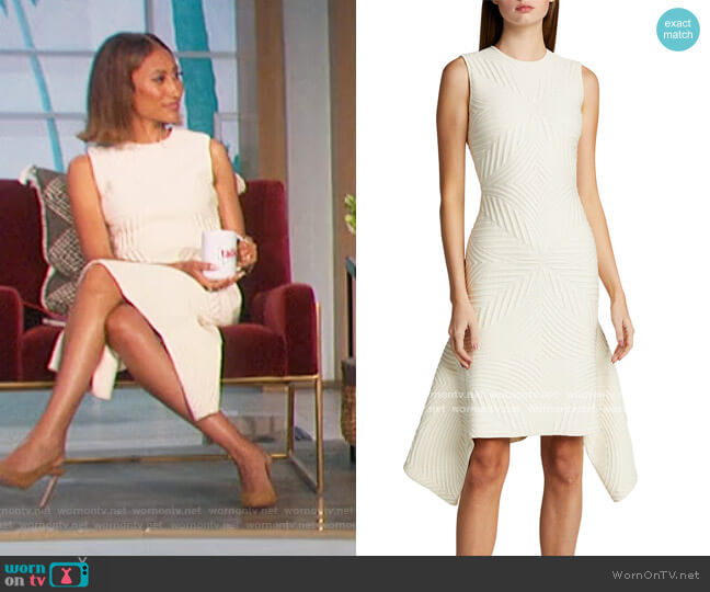 Textured Asymmetric Dress by Alexander McQueen worn by Elaine Welteroth  on The Talk