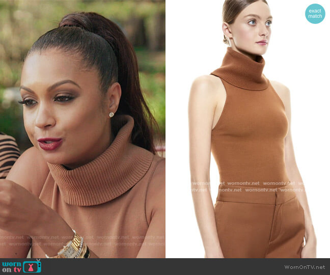 Darcey Dimensional Turtleneck Sweater by Alice + Olivia worn by Eboni K. Williams (Ebony K. Williams) on The Real Housewives of New York City