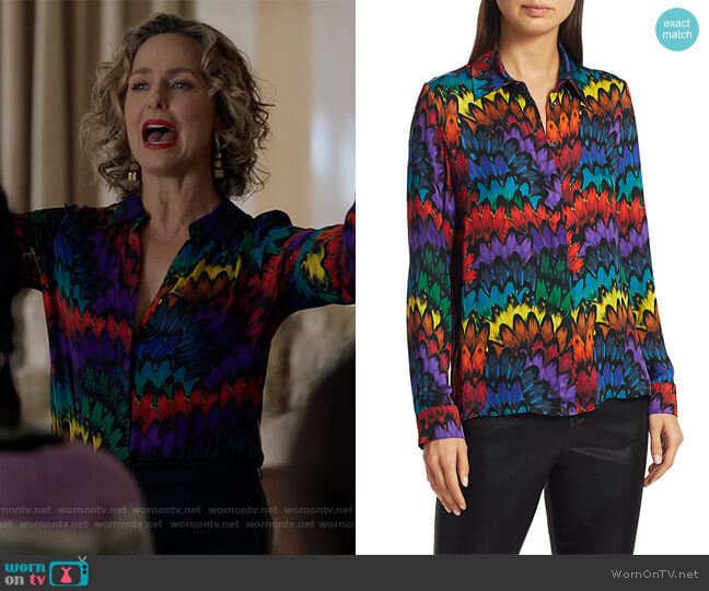Willa Printed Blouse by Alice + Olivia worn by Jacqueline (Melora Hardin) on The Bold Type