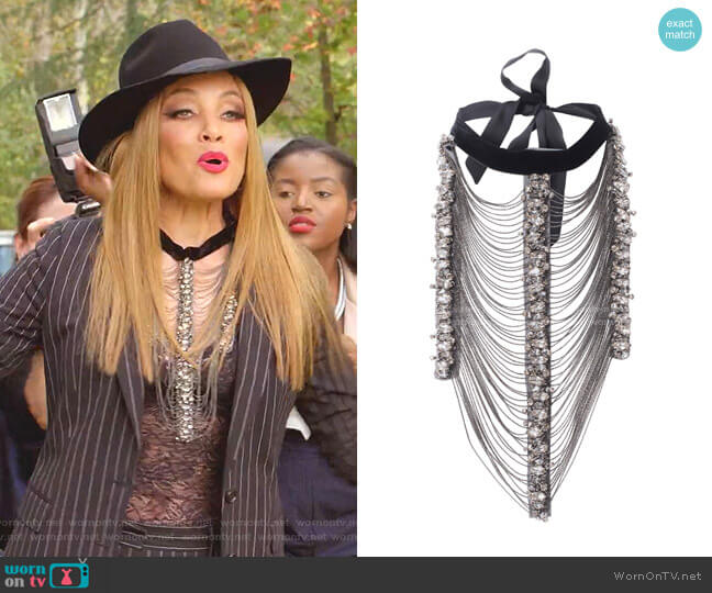 Oglam Stetement Collar by Anne Fontaine worn by Dominique Deveraux (Michael Michele) on Dynasty