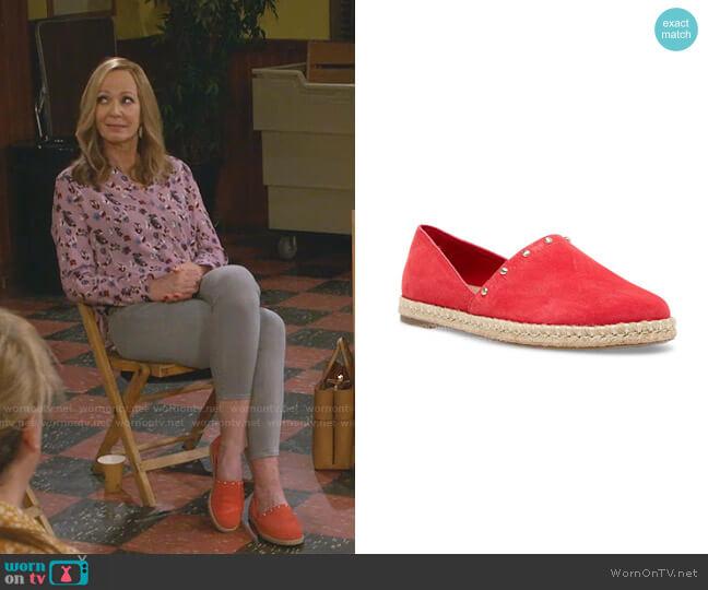 Kaily Espadrille Flats by Anne Klein worn by Bonnie Plunkett (Allison Janney) on Mom