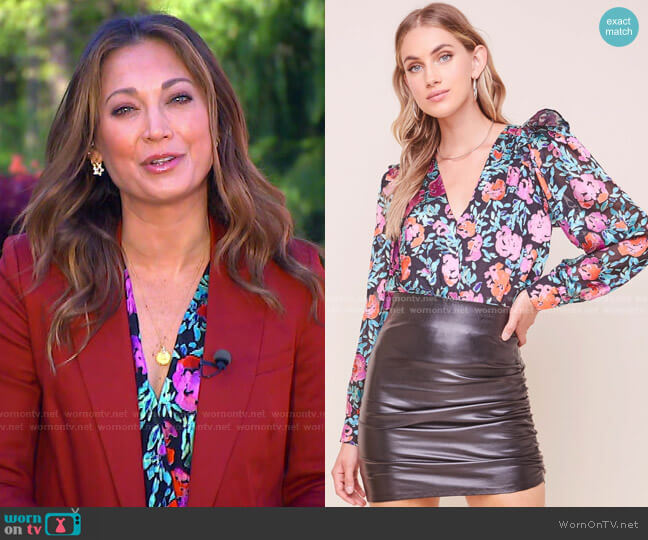 Matilda Bodysuit by ASTR The Label worn by Ginger Zee  on Good Morning America