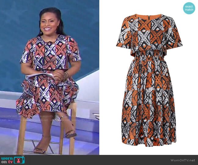 Lottie Dress by Autumn Adeigbo worn by Sheinelle Jones  on Today