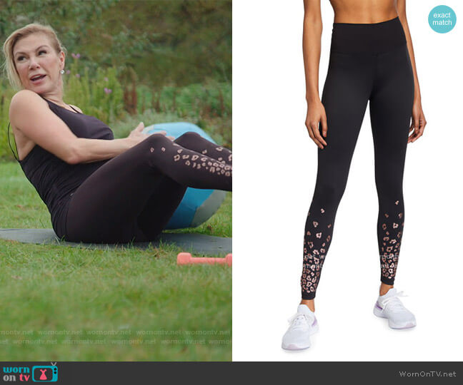 Ombre Leopard Athletic Leggings by Beach Riot worn by Ramona Singer  on The Real Housewives of New York City