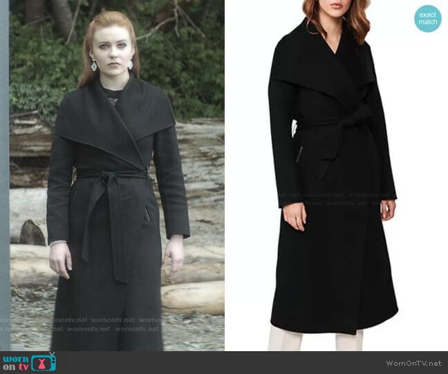 Belted Light Wool Coat by Mackage worn by Nancy Drew (Kennedy McMann) on Nancy Drew